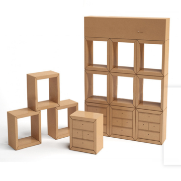 DIY Corrugated creative display cabinet