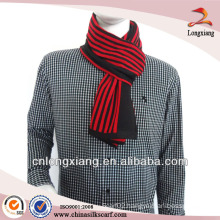 Fashion The Red Men Stripe 100% Acryclic Knitted Scarf