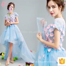 Plaid kurz für Frauen blaue Blume Mädchen schöne Design Damen Abendkleider