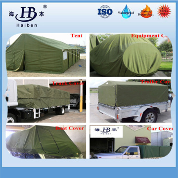 Waterproof venting and mildew proof canvas tarpaulin for cover