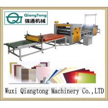 PVC / acrílico hot-melt pegamento máquina de laminación / PUR laminación de la máquina para el tablero de muebles