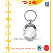 Oval shape keyring blank metal
