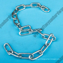 DIN763 Galvanzied soudés chaînes à maillons
