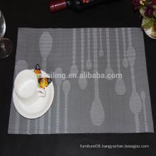 hot sale natural waterdrop jacquard pvc placemat