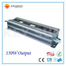 12V Waterproof LED Driver 150 Watt Fonte de alimentação 12V 12.5A Suprimentos para luz do módulo LED nas cartas do canal