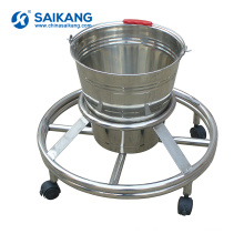 SKH034-5 Hospital Movable Stainless Steel Steel Workstation Waste Bucket