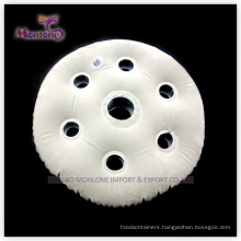 Round PVC Flocking Inflatable Neck Air Pillow40X30cm