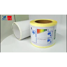 Custom printing rubber permanent adhesive tire sticker