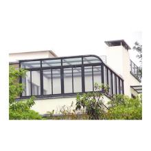 neues design laminiertes glas aluminium haus