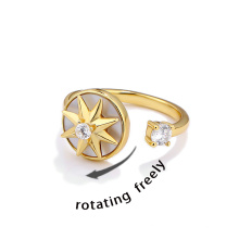 Turnable Rings Hot Trending Silver Anxiety Fidget Ring