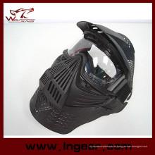 Taktische Airsoft Goggle Linse Vollmaske mit Hals Schutz gegen Maske