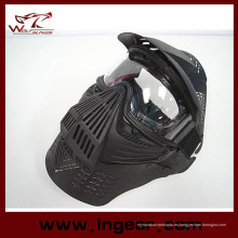 Tactical Airsoft gafas lente mascarilla completa con cuello proteger máscara de combate