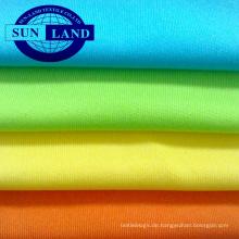Kostenlose Probe 100% Polyester Double Side Interlock Gewebe für einheitliches 100% Polyester Double Side Interlock Gewebe für Uniform