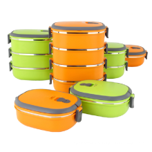 Duas Camadas Tiffin Lunch Box / Thermos Para Hot Food http://meiming.en.alibaba.com/