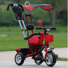 Popular and Cheap 4 in 1 Children Stroller Baby Pram Tricycle Kids Tricycle for Sale
