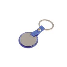 Porte-clés en plastique acrylique rond en acrylique rond avec logo personnalisé (F1011)
