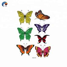 Colorido en personalizar la pegatina del cuerpo para niño de estilo mariposa