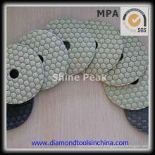 Almofadas de polimento a seco de diamante flexível de pedra de granito de mármore