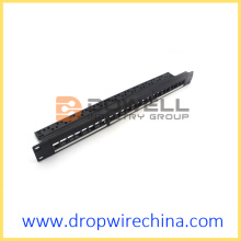 24 panel patch panel Blank dengan pengurus kabel