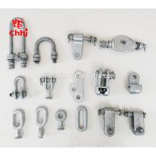 Feuerverzinkter Stahl-Kugelauge / Socket Gabelkopf / Anker Schäkel / Link Platte / für Overhead-Übertragung Pole Line Hardware