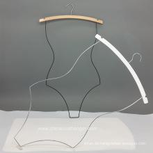 Heißer Verkauf Holz Bikini Metall Kleiderbügel Bademode Körper Kleiderbügel