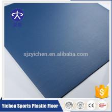 Yichen royalblue litchi grain 4.5mm PVC piso de esportes em estoque