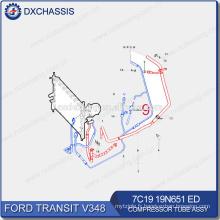 Pièces de rechange automatiques véritables pour le tube 7C19 19N651 ED de compresseur de transit de Ford