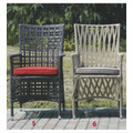 Popular Patio Waterproof aluminum frame rattan chair