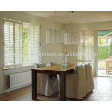 89mm Jalousie lowes Plantagenfensterläden in Linde an Fenstern