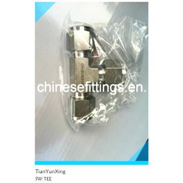 Acessórios de anel de corte, T de solda de soquete de aço inoxidável