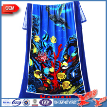 China Hersteller Custom 100% Baumwolle Reactive Print Badetuch