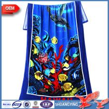 China Manufacturer Custom 100% Cotton Reactive Print Beach Towel