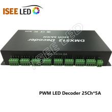 24 canales de salida dmx constante voltaje led decodificador