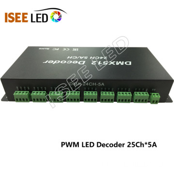 24Channels sortie dmx tension constante led décodeur