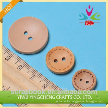 2014 promotional DIY round wood button