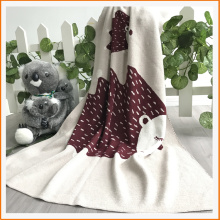 100% Cotton Baby Animal Blanket Self-created animal pattern