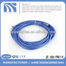 Nagelneues buntes blaues Ethernet-Flecken-Schnur-Lan-Kabel 15FT