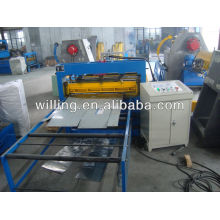 Simple slitting and cut to length machine for pre-painted and galvanized steel sheet