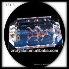 K9 Crystal Aschenbecher mit Rechteck Loch