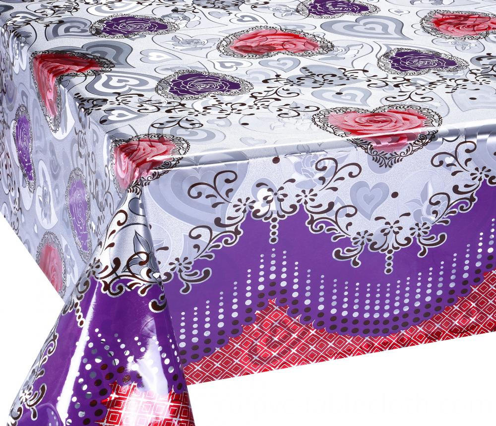 Mettalic gold silver tablecloth 1