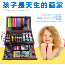school stationery set wooden set