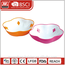 Colorful salad plastic bowl A