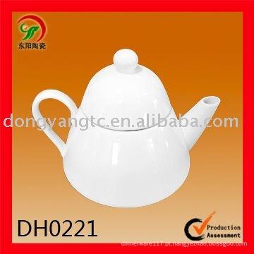 Pote de chá de porcelana branca por atacado 475CC direto da fábrica