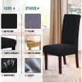Conjunto de capas para cadeiras de tecido para cadeiras de têxteis domésticos para interior preto sarja extensível