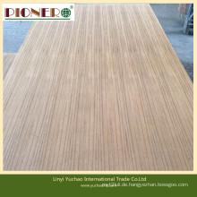 1220 * 2440mm verschiedene Größe Teak Sperrholz für Dekoration und Möbel