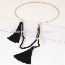 Encanto estilo aleación de moda medio abierto collar de cuello gargantilla borla