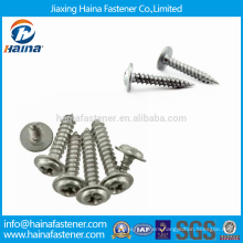 Stock DIN968 Cross Recessed Round Head Stainless Steel Tapping Screws with Collar