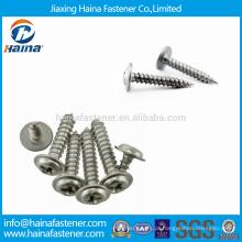 Stock DIN968 Cruz Recessed rodada de aço inoxidável parafusos com colar