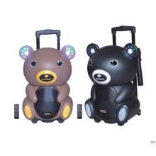Altavoz de oso de peluche con altavoz de batería de karaoke de Bluetooth