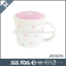 tasse en céramique de chaozhou tasse tasse de café de porcelaine fine d'os avec le couvercle, tasse et tasses, tasse de style de frence